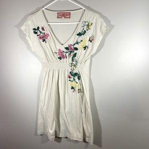 Johnny Was LA JWLA Embroidered Tunic Dress EUC S
